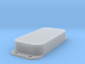 Strat PU Cover, Double, Closed in Smooth Fine Detail Plastic