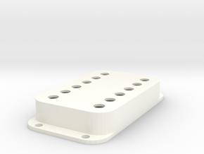 Strat PU Cover, Double Wide, Classic in White Processed Versatile Plastic