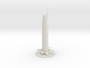 Almas Tower (1:1800) in White Strong & Flexible