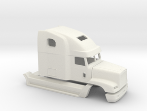 1/32 Frightliner Fld 120 Cab in White Strong & Flexible