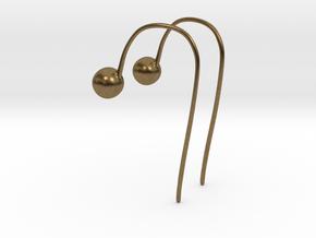Hook Earrings in Natural Bronze