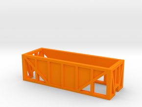 Open Ore Car in Orange Processed Versatile Plastic