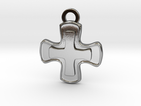 Healer Role Charm in Polished Silver