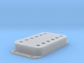 Strat PU Cover, Double Wide, Angled, Classic in Smooth Fine Detail Plastic