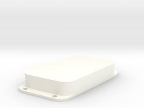 Strat PU Cover, Double Wide, Angled, Closed in White Processed Versatile Plastic