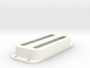 Strat PU Cover, Double, Angled, Open in White Processed Versatile Plastic