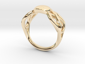 knot ring in 14K Yellow Gold: 8 / 56.75