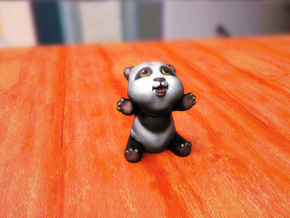 Mini Pet Panda in Full Color Sandstone