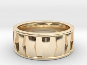 Hex Inset Ring in 14K Yellow Gold: 6 / 51.5