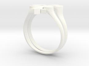 fleur de lis RING in White Processed Versatile Plastic: 8 / 56.75