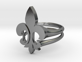 fleur de lis RING in Polished Silver: 10 / 61.5