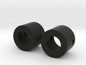 Bearing caps for 12mm tube in Black Natural Versatile Plastic