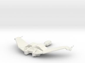 Klingon Bird of Prey 1:1000 Wings up in White Strong & Flexible