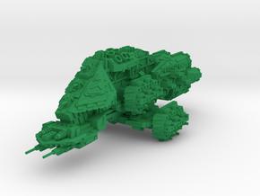 Slammer Battleship in Green Processed Versatile Plastic