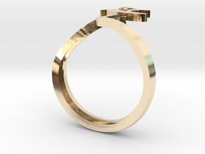 SURFER wave in 14K Yellow Gold: 8 / 56.75