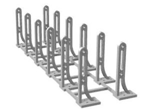 N scale RDG handrail stanchions in Smoothest Fine Detail Plastic: 1:160 - N