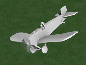 Junkers D.I (long fuselage) in White Natural Versatile Plastic: 1:144