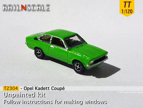 Opel Kadett Coupé (TT 1:120) in Smooth Fine Detail Plastic