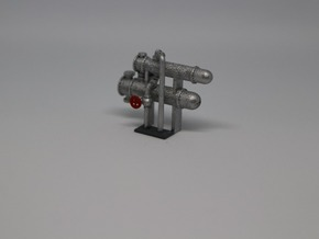 N Scale Heat Exchanger 4 Single in Smooth Fine Detail Plastic