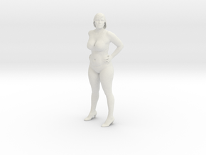 Sexy Girl Standing in White Natural Versatile Plastic: 1:10