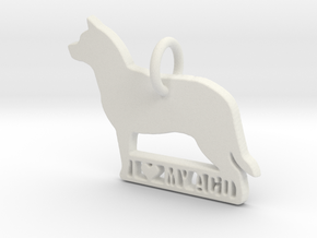 I Love My Australian Cattle Dog in White Natural Versatile Plastic