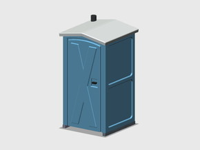 Porta-Potty in Smooth Fine Detail Plastic: 1:87 - HO