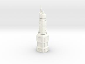 Federation Building in White Processed Versatile Plastic