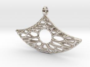 Anker Mesh Pendant 6 in Platinum