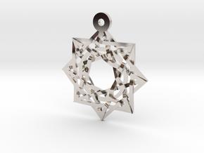 "8:8 Stargate 1+"" Pendant in Rhodium Plated Brass"