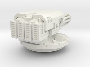twin assault cannon turret 2/3rds size - pcc toys in White Natural Versatile Plastic