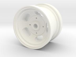 "RIM005-01 1.75"" Rear Slot Mag, Tamiya 5 Lug in White Processed Versatile Plastic"