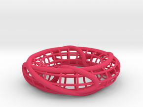 Two Linked Trefoils on a Torus in Pink Strong & Flexible Polished