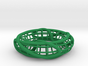 Two Linked Trefoils on a Torus in Green Processed Versatile Plastic