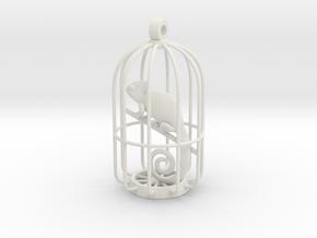 Chameleon Charm in White Natural Versatile Plastic