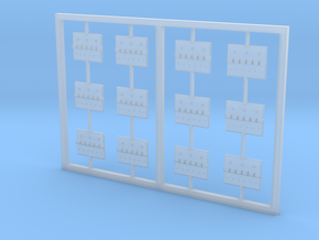 Hinges for maintenance bays (SuperScale 700) in Smooth Fine Detail Plastic