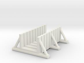 foot bridge 5cm tall in White Natural Versatile Plastic