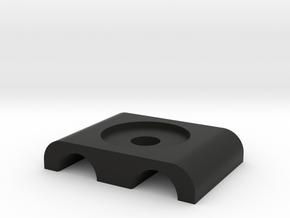 3/8 AN tubeclamp top in Black Natural Versatile Plastic