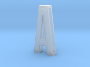 Choker Slide Letters (4cm) - Letter A in Smooth Fine Detail Plastic
