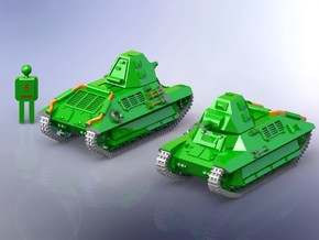French WW II FCM 36 light Infantery Tank 1/285 in Smooth Fine Detail Plastic