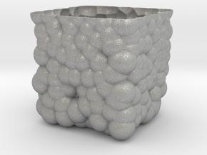 Cubic Bubbly Vase in Aluminum