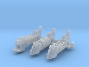 Space Orc Transports (3) in Smooth Fine Detail Plastic