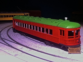 #87-1201 - Fort Wayne-Lima Interurban - carbody in Frosted Ultra Detail