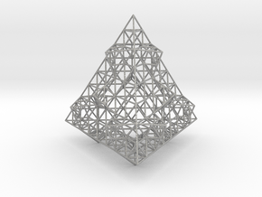Wire Fractalised Tetrahedron in Aluminum