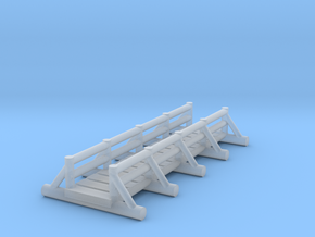 small foot bridge  long in Smooth Fine Detail Plastic