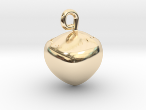 Hazelnut jewel in 14k Gold Plated Brass