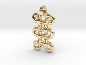 tri-knot [pendant] in 14K Yellow Gold