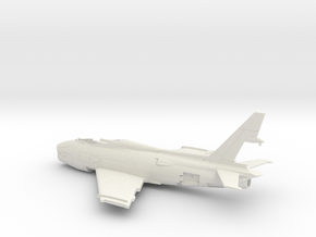 FJ4B-144scale-1-Airframe in White Natural Versatile Plastic