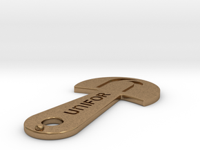 Cart Key - UNIFOR - Recessed Letters in Natural Brass