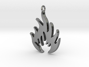 Flammable in Fine Detail Polished Silver