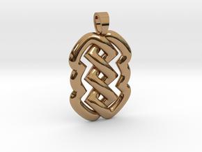 Z knot [pendant] in Polished Brass